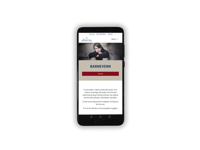 Aberia tjenesteside mobil
