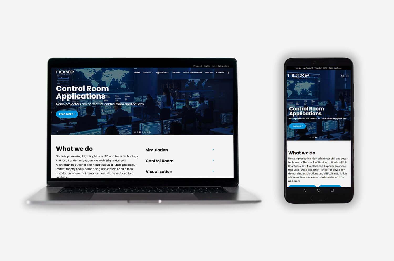 Norxe AS med ny hjemmeside