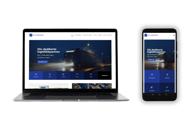 Scanfreight hovedbilde pc og mobil