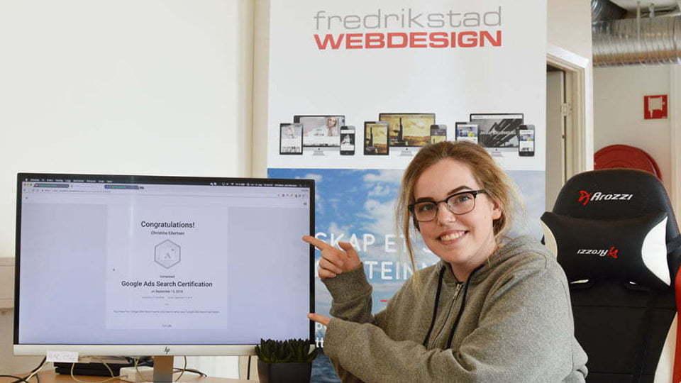 Vi gratulerer Christine med bestått Google Adwords eksamen