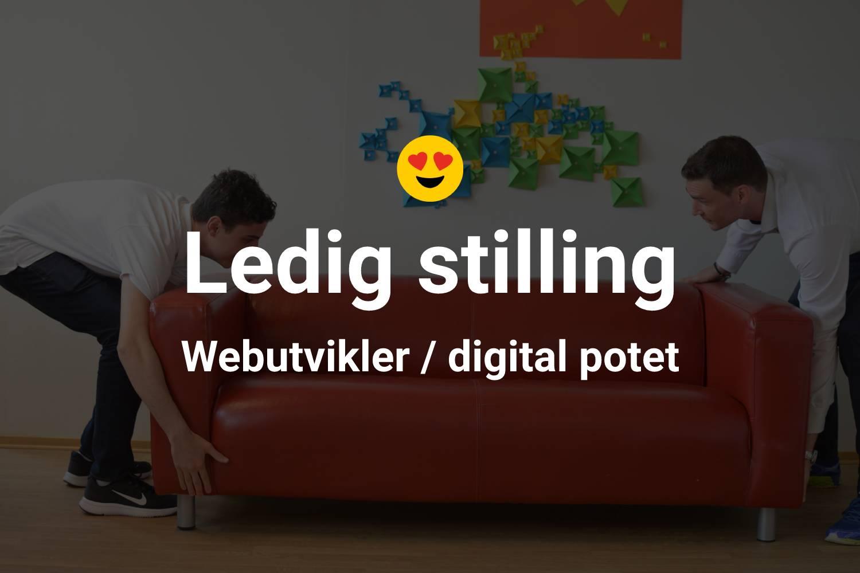 Ledig stilling som webutvikler